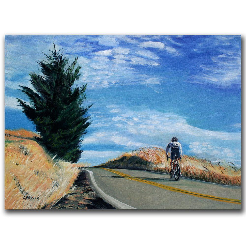 null 26 in. x 32 in. Biker Ascending Canvas Art