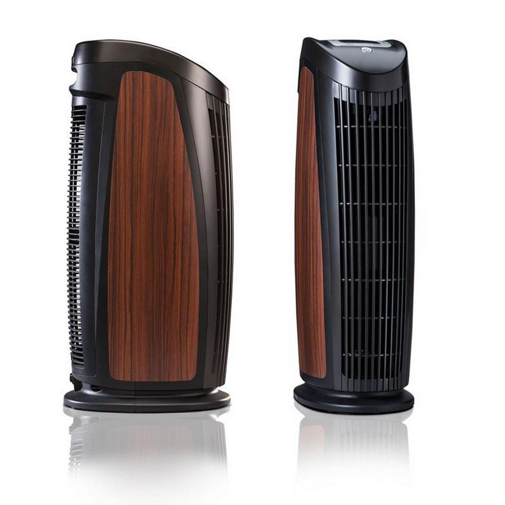 T500 Designer Tower Air Purifier With Hepa Silver To Remove Allergies Mold