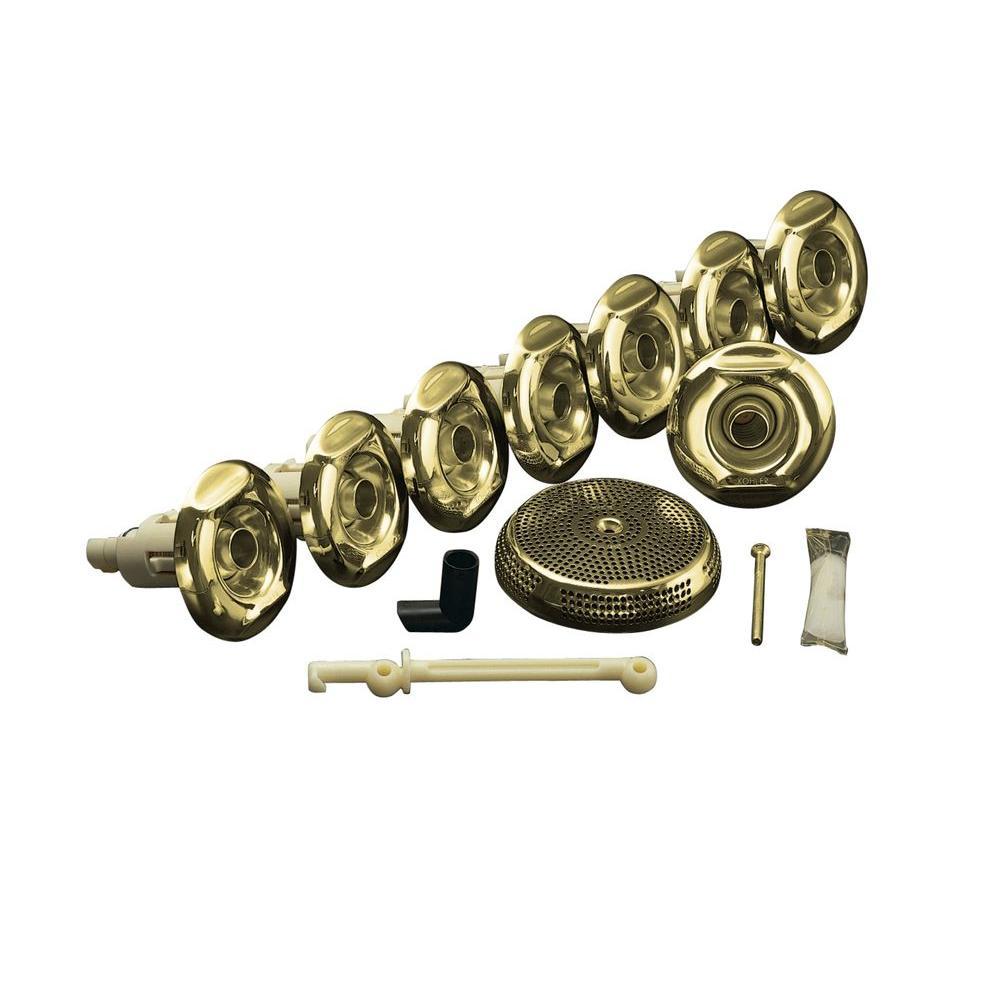 KOHLER Flexjet Whirlpool Trim Kit in Vibrant Polished Brass