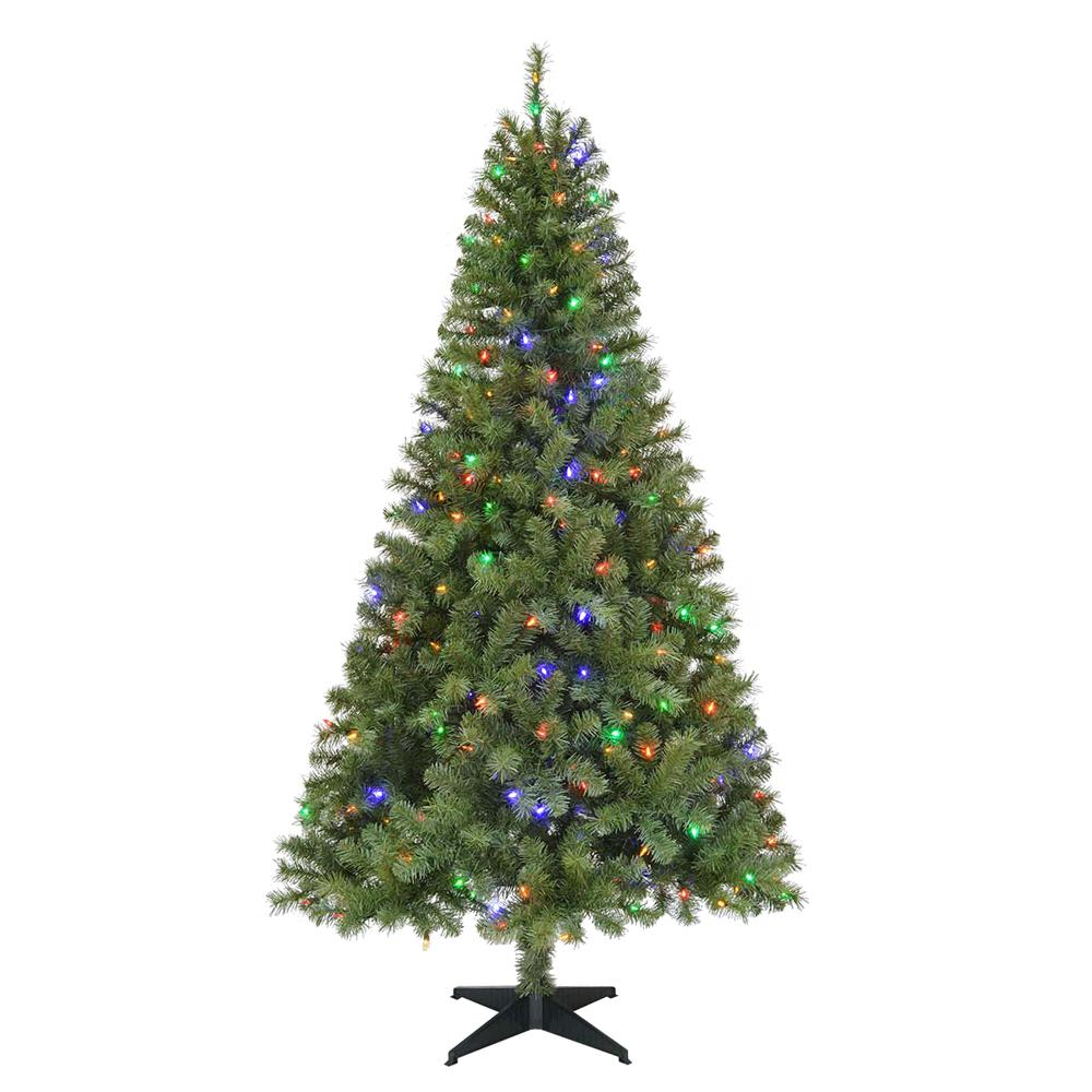 Home Accents Holiday 6 5 Ft Pre Lit Led Greenville Spruce Artificial Christmas Tree With