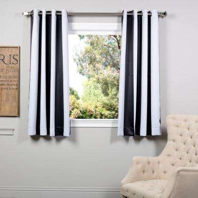 Semi-Opaque Awning Black and White Stripe - 50 in. W x 63 in. L (Panel)