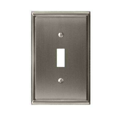 Mulholland 1-Toggle Wall Plate, Satin Nickel