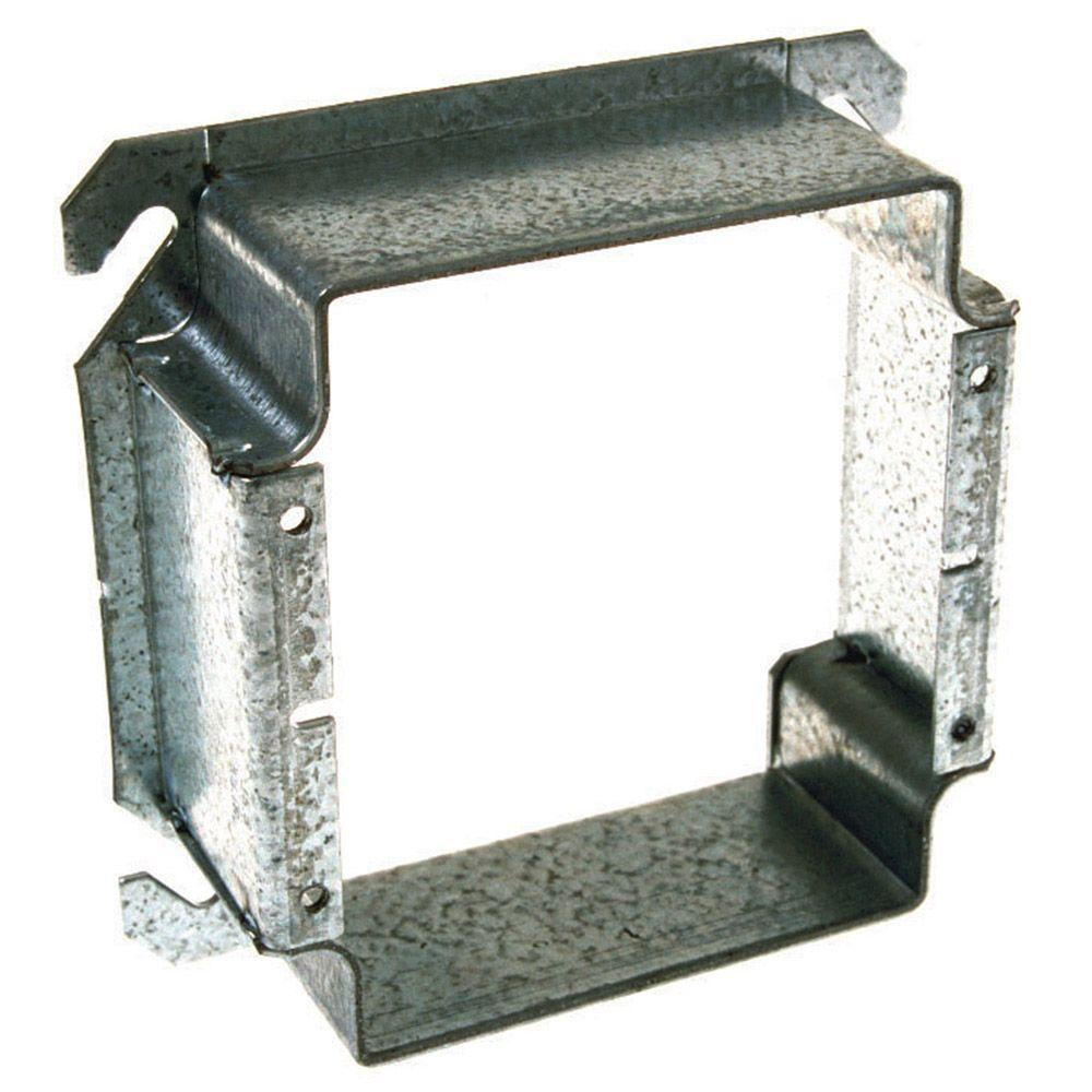 4 in. Square Two Device Mud Ring, Raised 1-1/2 in. (25-Pack)