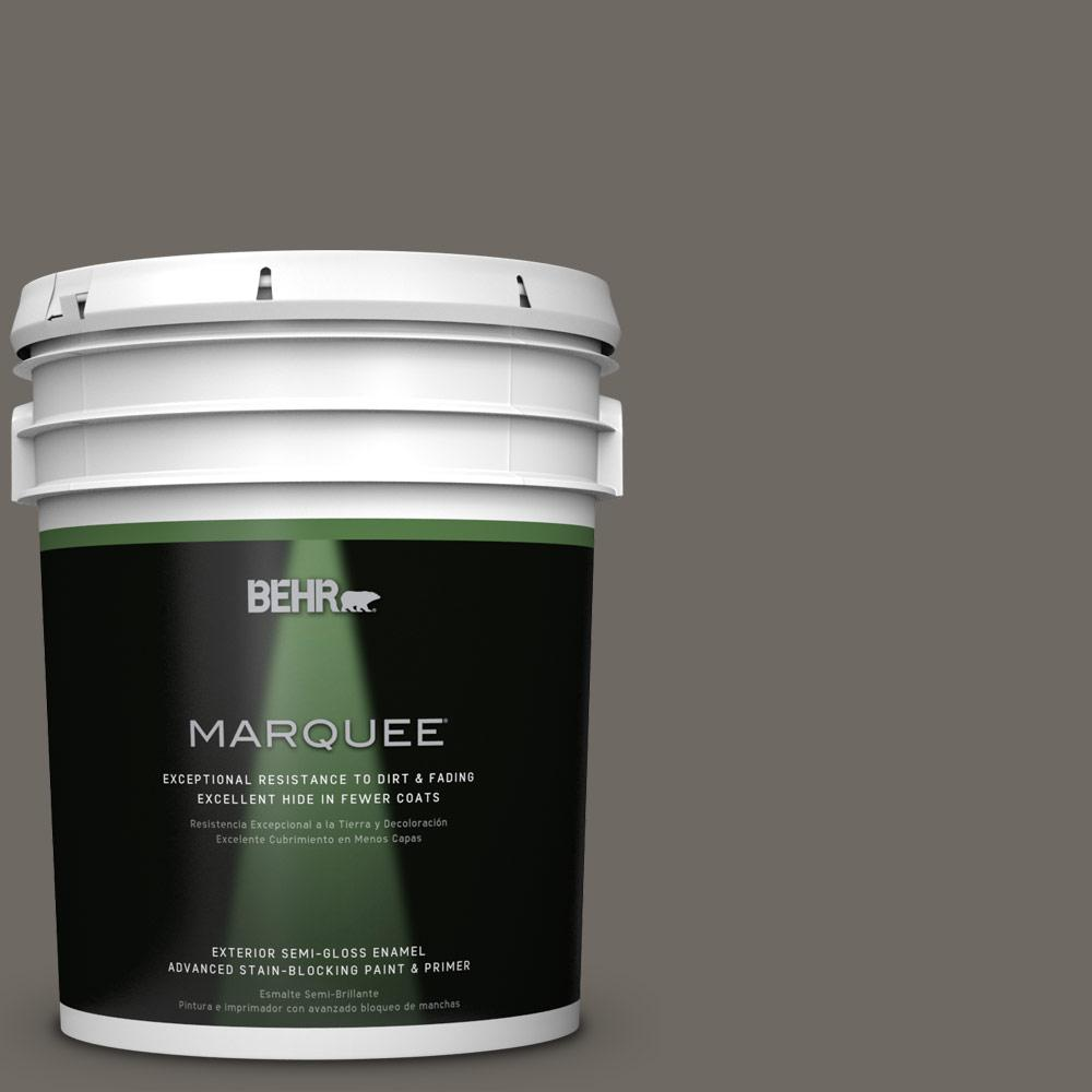 5 gal. #PPU24-04 Burnished Pewter Semi-Gloss Enamel Exterior Paint