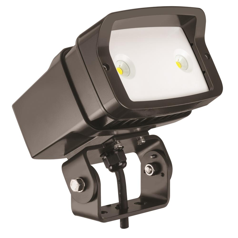 Lithonia Lighting Ofl1 Led Bronze Outdoor 4000k Flood Light