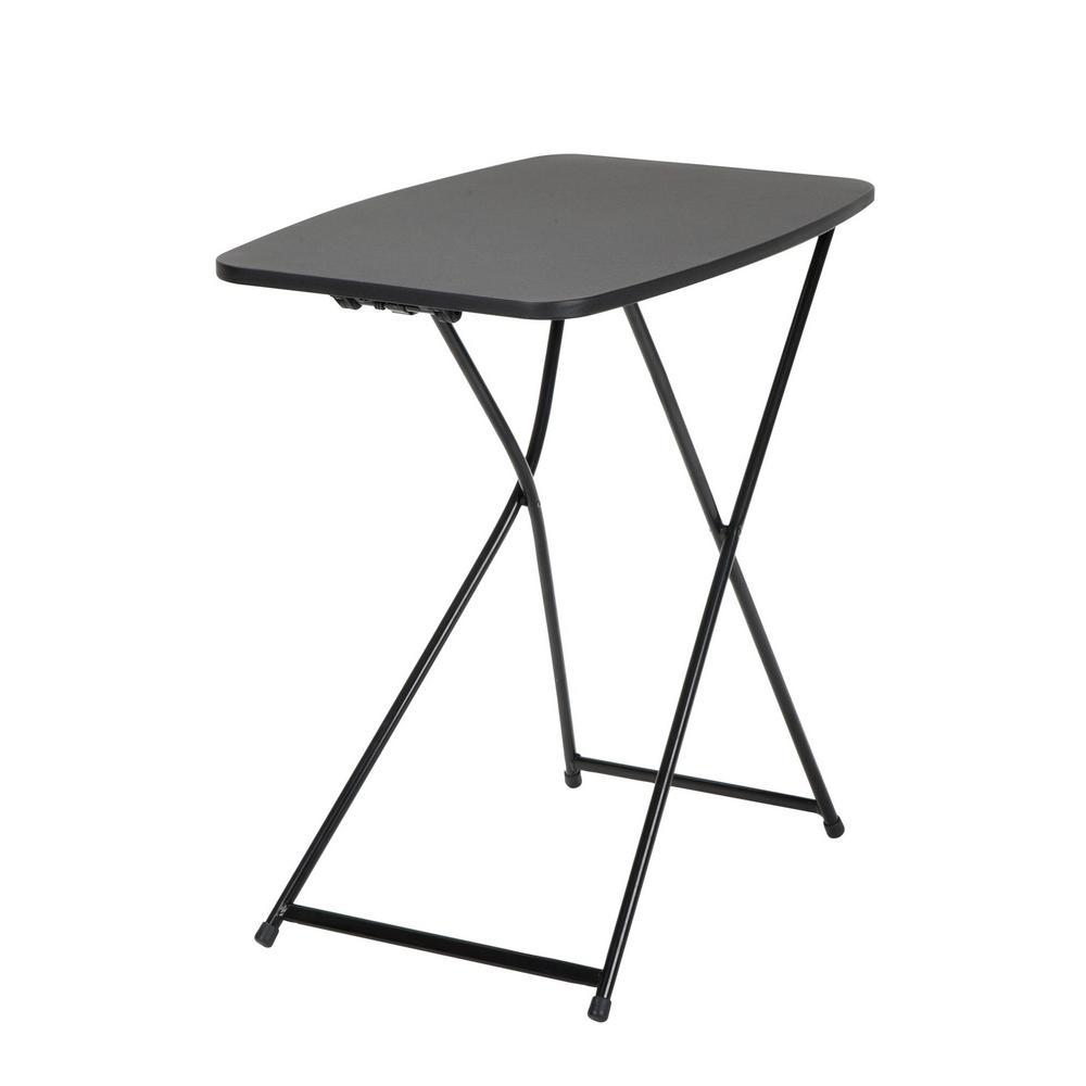 cosco black adjustable 2 pack folding tailgate table 37129blk2e