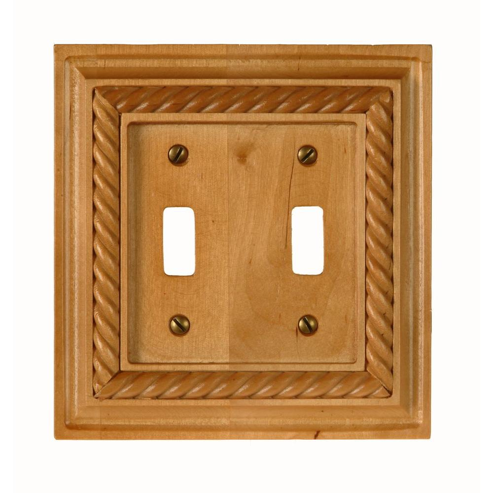 Rope 2 Toggle Wall Plate - Light Oak