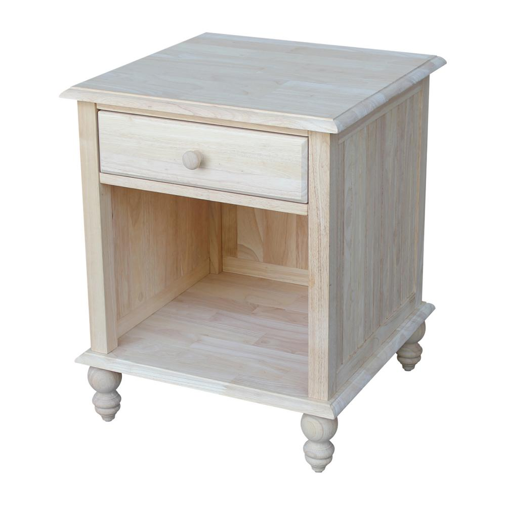 International Concepts Cottage Unfinished End Table-OT-20E - The ...