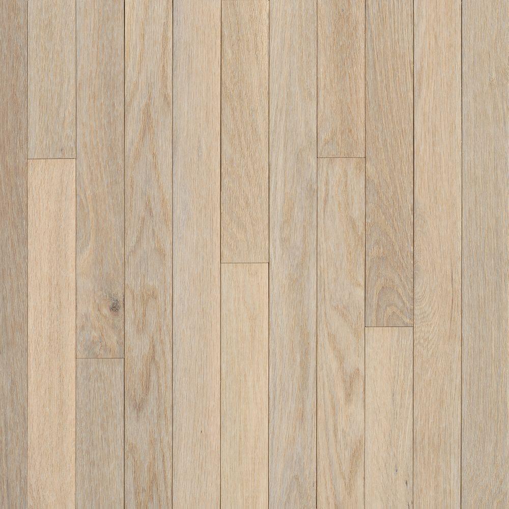 American Originals Sugar White Oak 3/8 in. T x 3 in. W x Varying L Engineered Click Hardwood Floor (22 sq. ft./case)