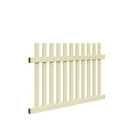 Seneca Straight 4 ft. H x 6 ft. W Sand Vinyl Fence Panel Kit