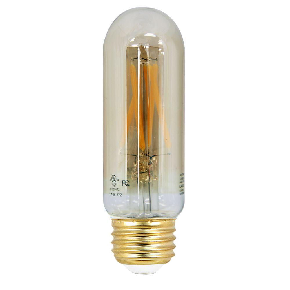 Feit Electric 40W Equivalent Soft White (2200K) T10 Dimmable LED Vintage Style Light Bulb  sc 1 st  The Home Depot & Feit Electric 40W Equivalent Soft White (2200K) T10 Dimmable LED ... azcodes.com