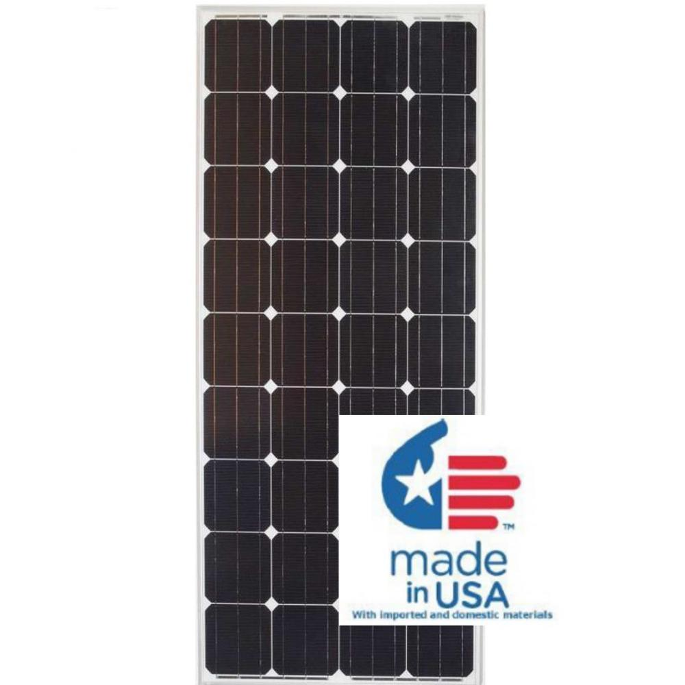 Grape Solar 190-Watt Monocrystalline PV Solar Panel for Cabins, RV's and Back-Up Power Systems
