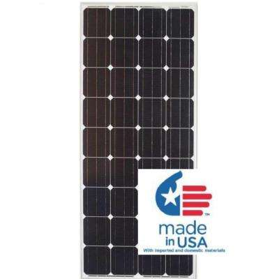 190-Watt Monocrystalline PV Solar Panel for Cabins, RV's and Back-Up Power Systems