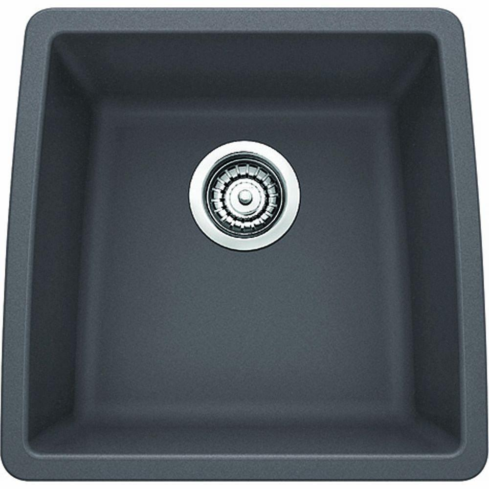 Blanco PERFORMA Undermount Granite Composite 17.5 in. Single Bowl Bar Sink in Cinder