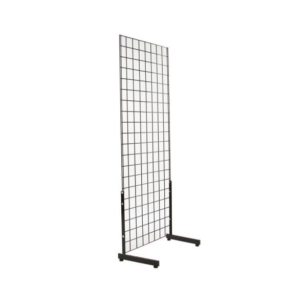 19-1/4 in. H x 12-3/4 in. L Black L-Shaped Leg for Freestanding Gridwall Panel (Pack of 12)