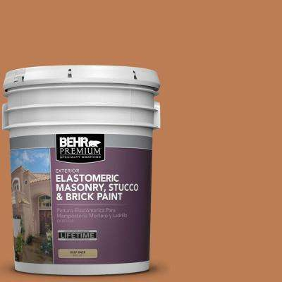5 gal. #MS-11 Rustic Orange Elastomeric Masonry, Stucco and Brick Exterior Paint