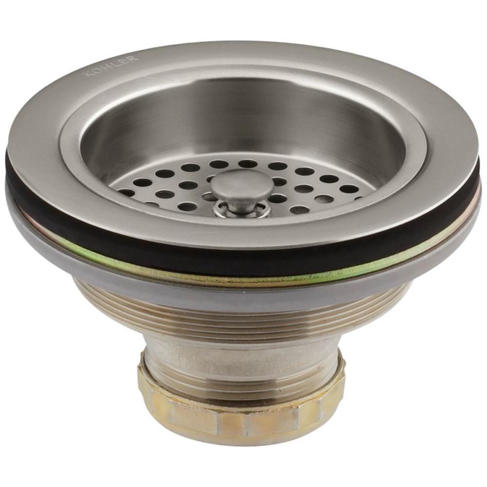 KOHLER Duostrainer 4-1/2 in. Sink Strainer in Vibrant Brushed Nickel