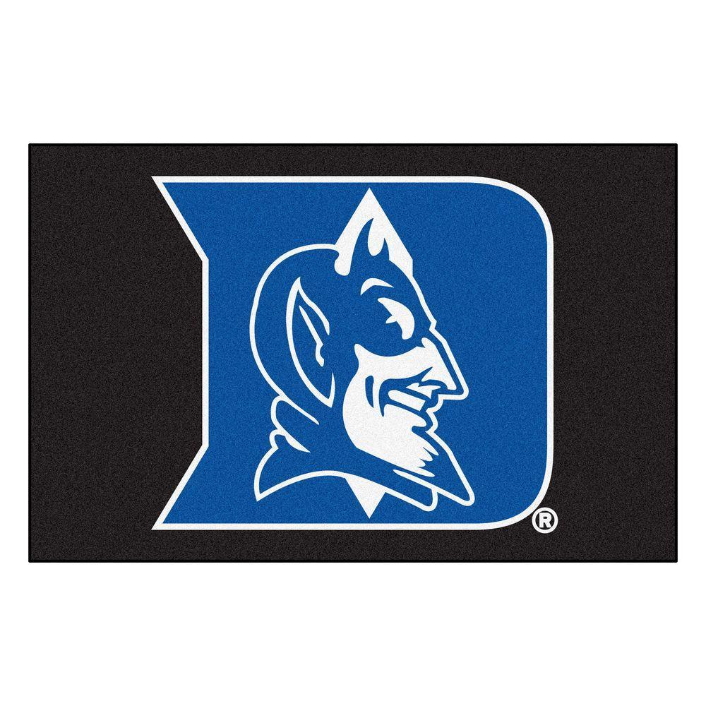 NCAA Duke University Black 2 ft. x 3 ft. Area Rug