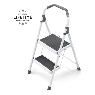 2-Step Steel Lightweight Step Stool Ladder 225 lbs. Load Capacity Type II Duty Rating