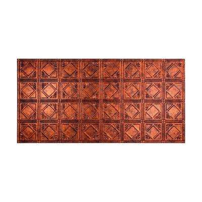 Traditional 4 - 2 ft. x 4 ft. Glue-up Ceiling Tile in Moonstone Copper