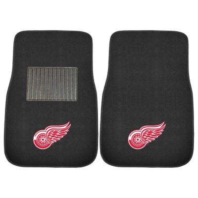 NHL Detroit Red Wings 2-Piece 17 in. x 25.5 in. Carpet Embroidered Car Mat