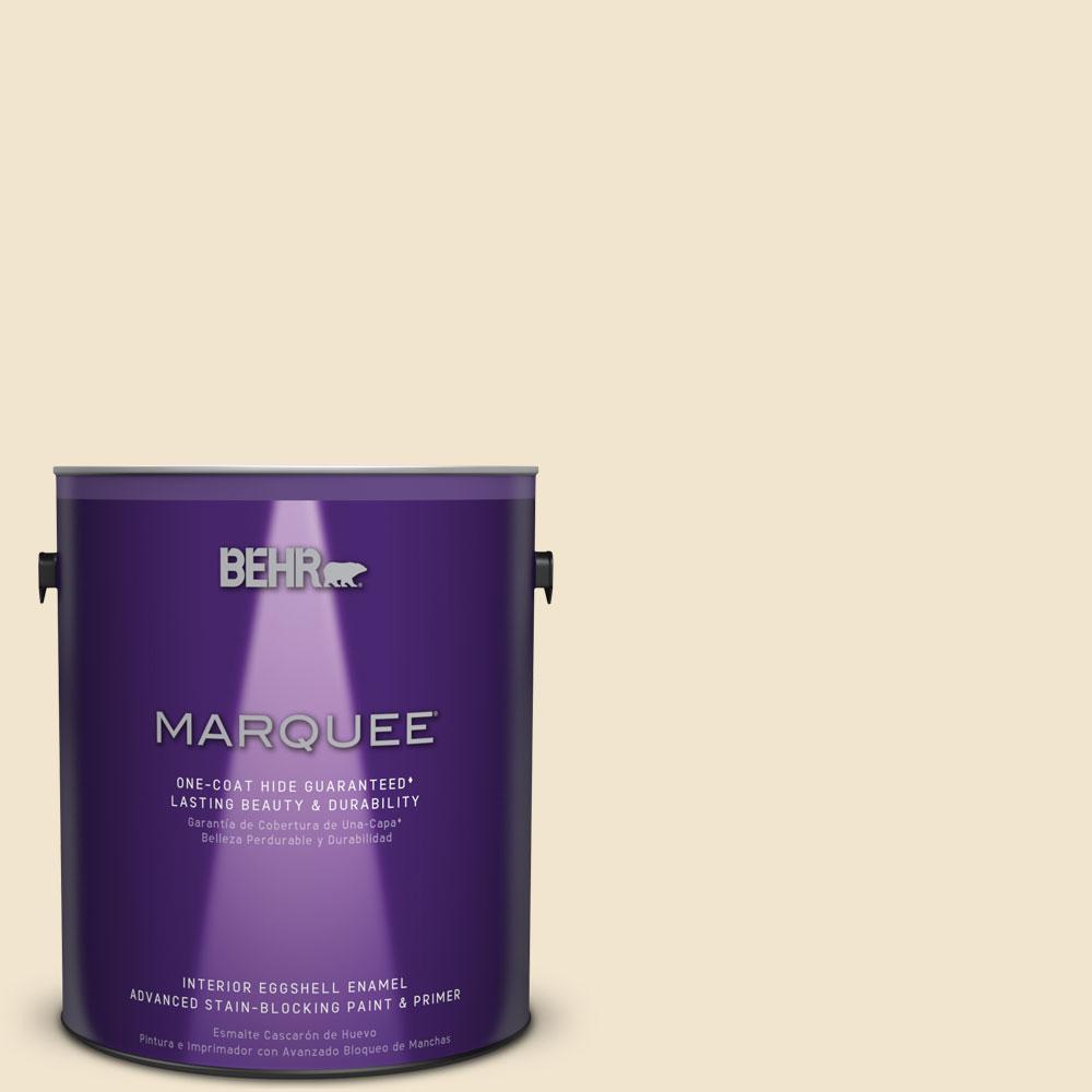 1 gal. #HDC-NT-11A Warm Marshmallow Eggshell Interior Enamel Paint