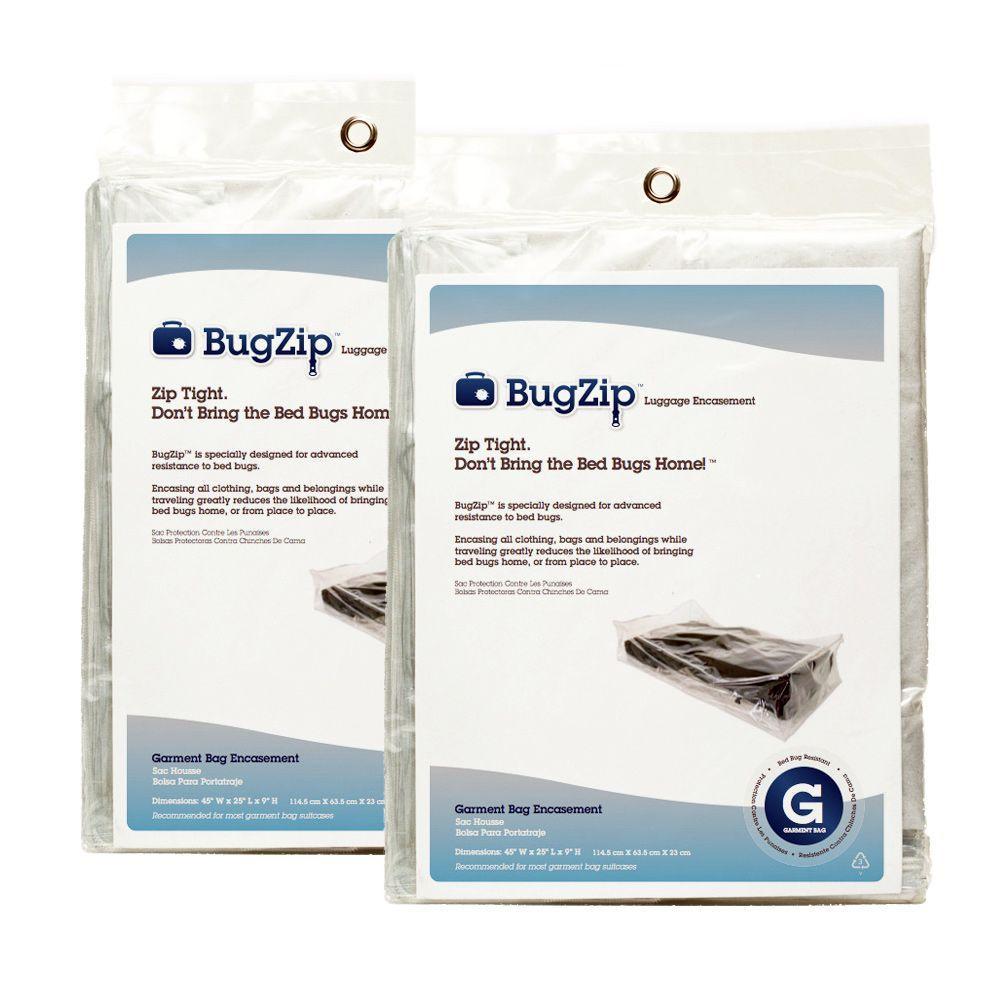 Garment Bag Size Bed Bug Resistant Suitcase and Clothing Encasement (2-Pack)