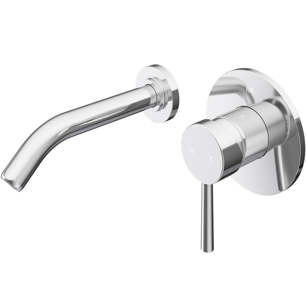 VIGO Olus Single Lever Single-Handle Wall-Mount Bathroom Faucet in ...