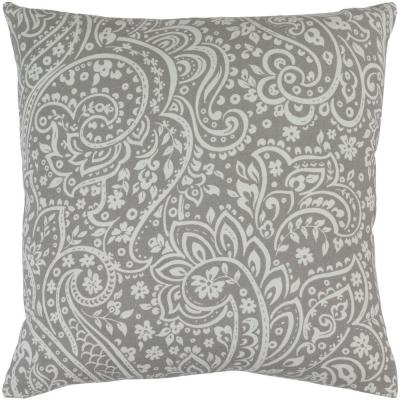Solomon Gray Graphic Polyester 18 in. x 18 in. Throw Pillow