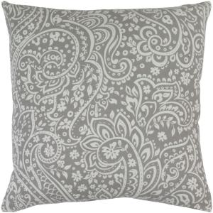 Artistic Weavers Solomon Gray Paisley 18 inch x 18 inch Decorative Pillow by Artistic Weavers