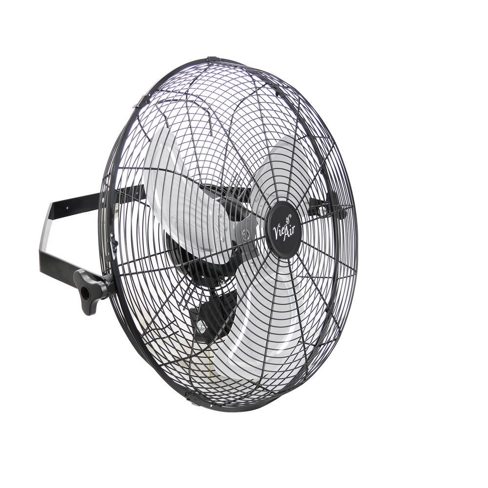 Dual Function Indoor/Outdoor Black 18 in. Wall Tilting Fan