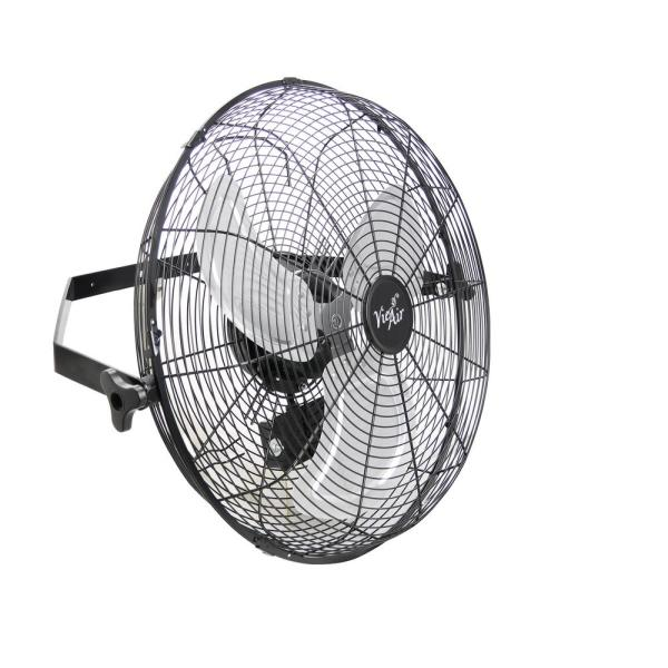 Dual Function Indoor/Outdoor Black 18 in. Wall Tilting Fan