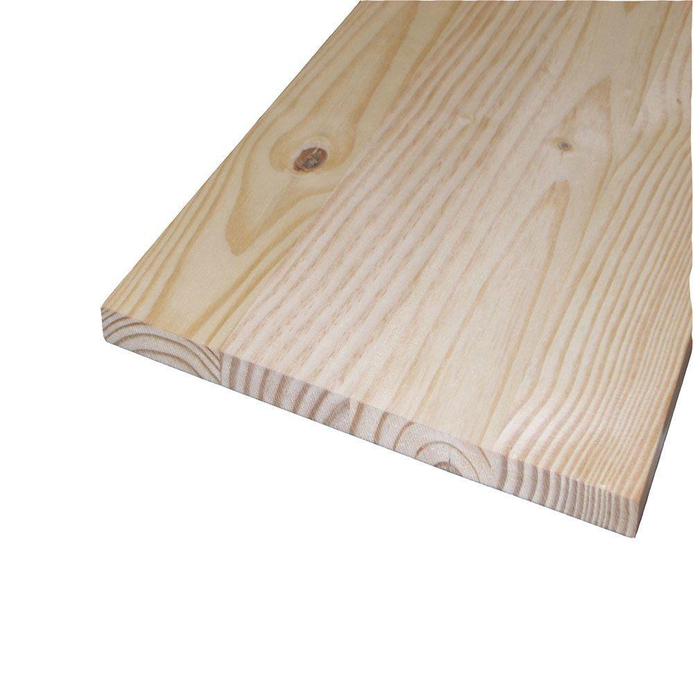 1 in. x 20 in. x 4 ft. S4S Laminated Spruce Panel Board