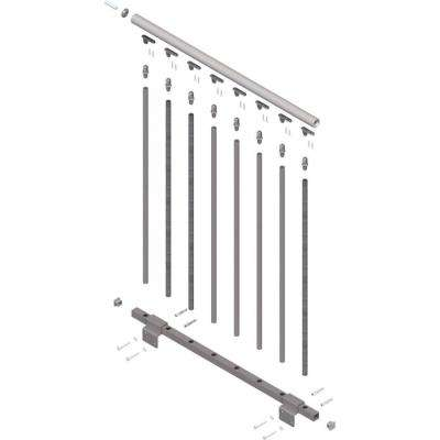 Toronto 42 in. Long Landing Banister Continuous Kit