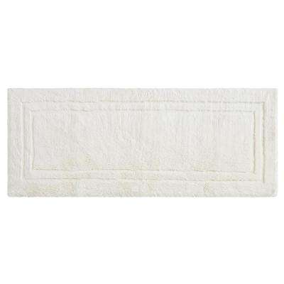Imperial 24 in. x 60 in. Cotton Runner Bath Rug in Parchment