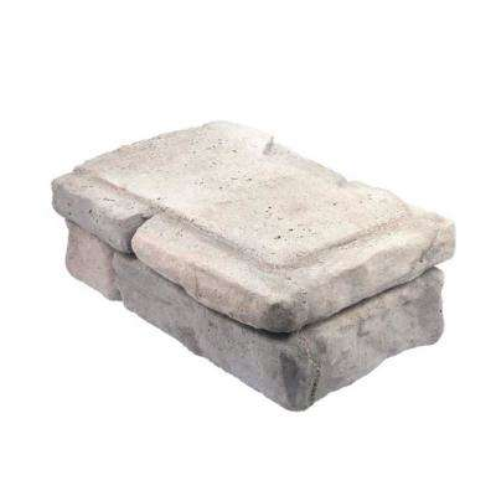 Panama 8 in. x 16 in. x 6 in. Limestone Concrete Corner Block
