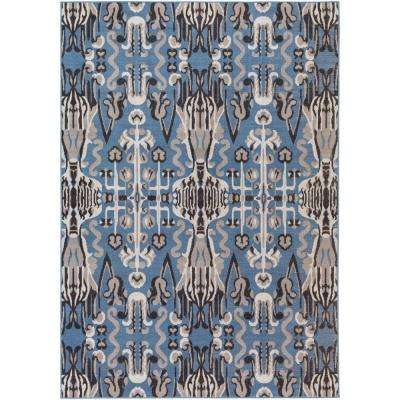 Kechio Blue 5 ft. 4 in. x 7 ft. 8 in. Indoor Area Rug