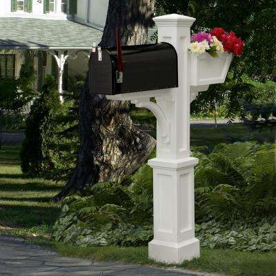 Westbrook Plus Plastic Mailbox Post, White
