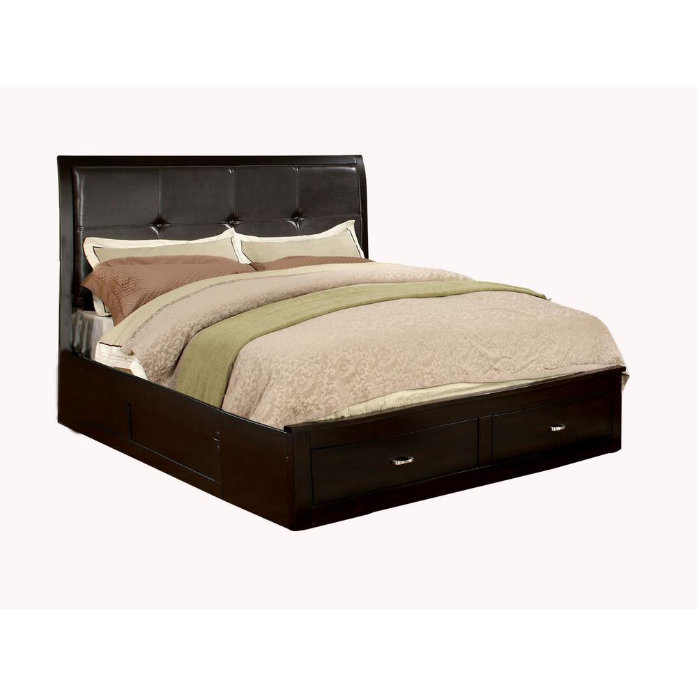 Enrico III Espresso Queen Bed