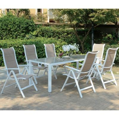 Dernice 7-Piece Aluminum Outdoor Dining Set