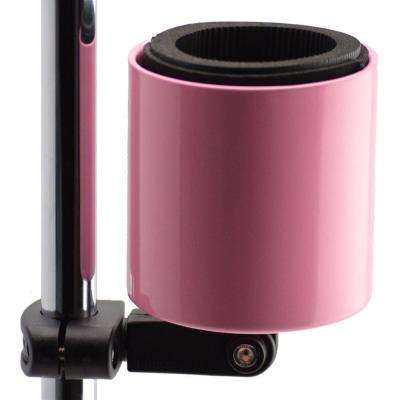 Kroozercups Deluxe Drink Holder Fits Bars from 5/8 in. to 1-3/8 in. at any Angle with New Super-Tight Grip in Pink