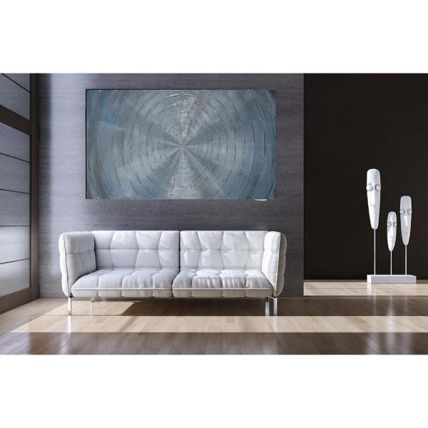 The Urban Port 23.62 in. x 47.24 in. Circles Hand Painted