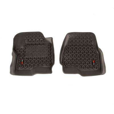 Black Front Floor Liner Pair 2017-2018 Ford F-250