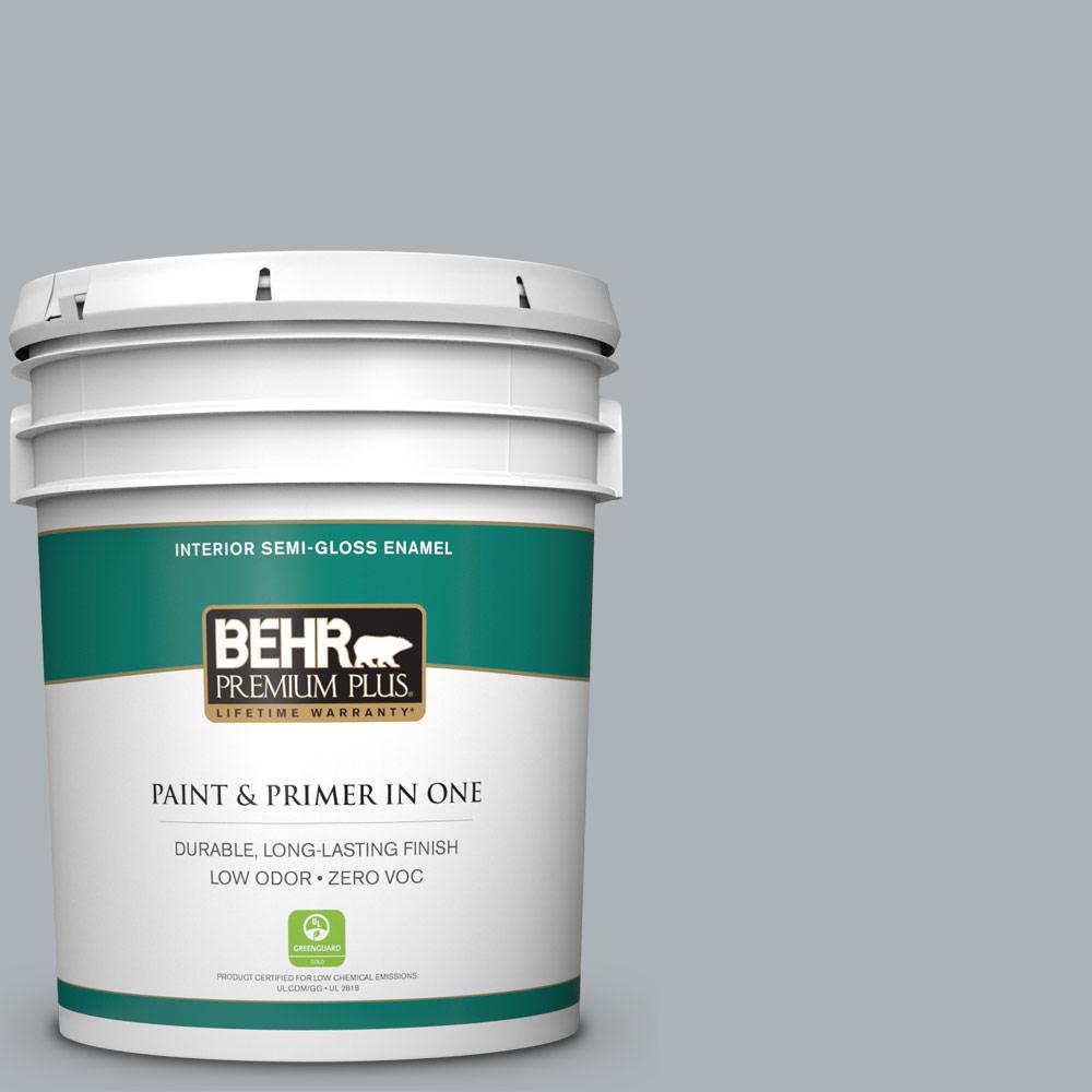 BEHR Premium Plus 5-gal. #N510-3 Stargazer Semi-Gloss Enamel Interior Paint