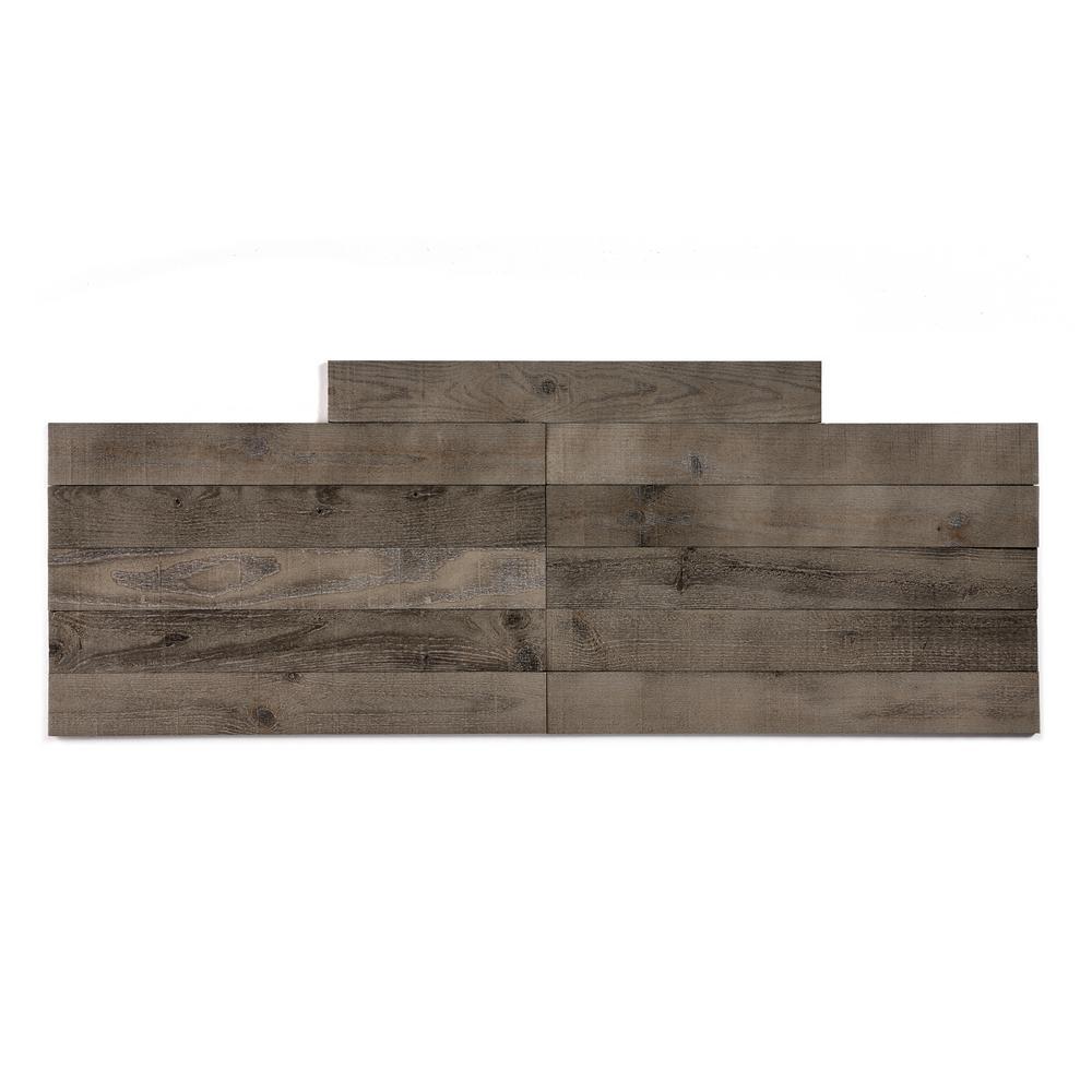 Barnwood 9.5 sq. ft. Driftwood Grey Wood Peel and Stick Wall Plank Paneling Kit
