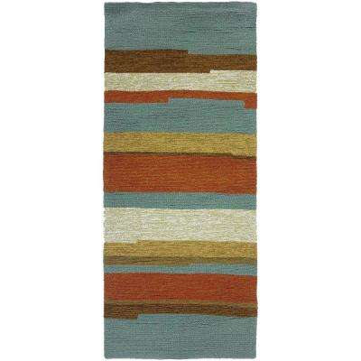 Teal - Runner - Outdoor Rugs - Rugs - The Home Depot