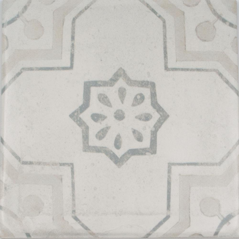 InDesign Handspun Cementine Mix 6 in. x 6 in. Ceramic Wall Tile (10 ...