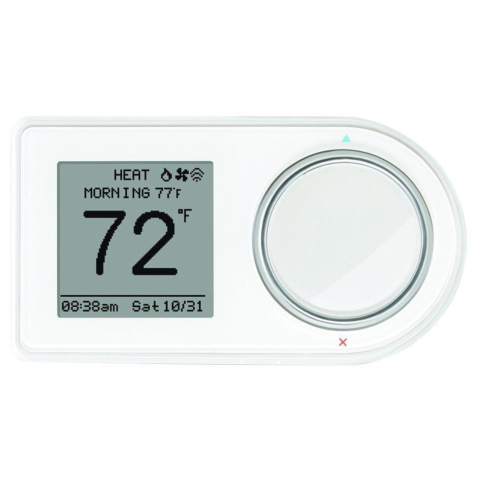 LUX/GEO 7-Day Wi-Fi Programmable Thermostat in White