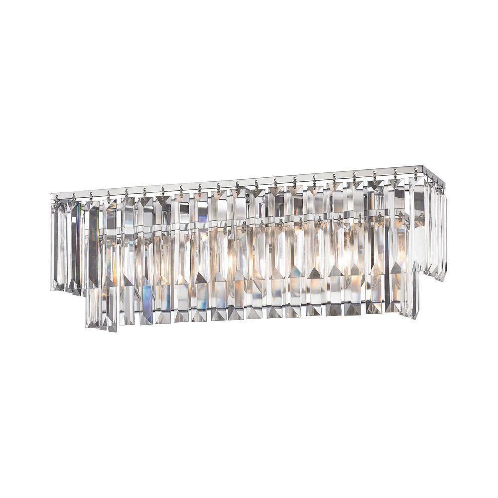 Palacial 3-Light Polished Chrome LED Vanity Light