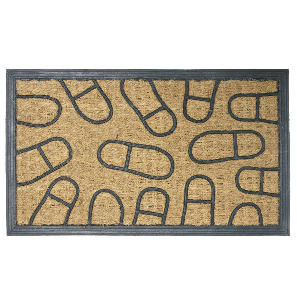 Coming and Going 18 in. x 30 in. Outdoor Rubber Mat